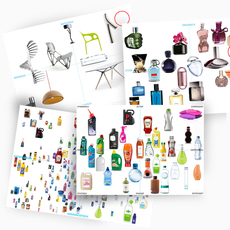 Mood board for the design of washing powder bottle